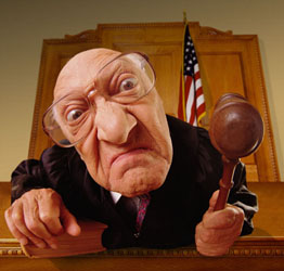 judge who killed my career she looked like this, only not